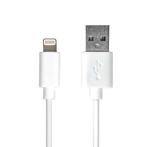 CHARGEUR VOITURE 2 X USB 3.4A+CORDON LIGHTNING BLANC 900082-3