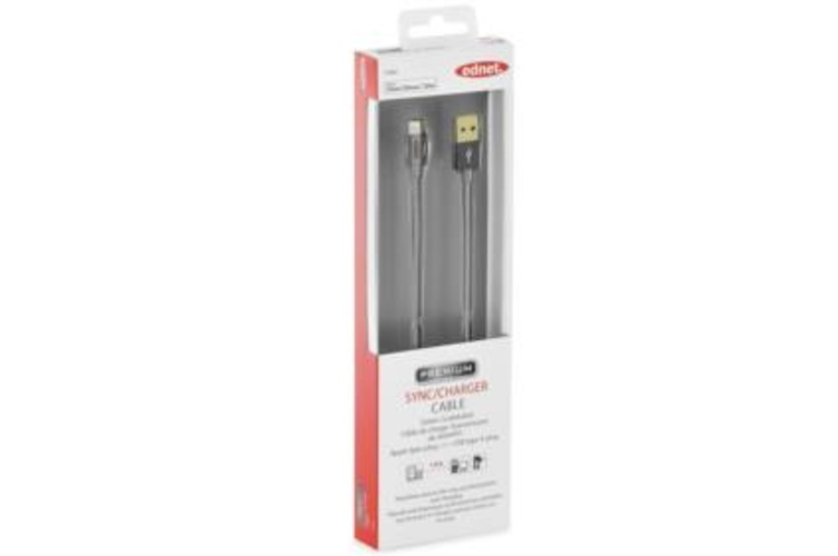 CORDON TRESSE SYNCHRO + CHARGE LIGHTNING 1M GRIS SIDERAL 31062-2