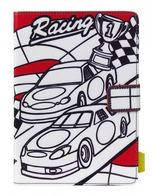 ETUI A COLORIER TABLETTE 7/8'''' RACING CAR+3 FEUTRES INCLUS taukt009cars7-8inch1