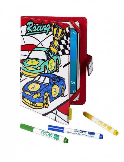 ETUI A COLORIER TABLETTE 7/8'''' RACING CAR+3 FEUTRES INCLUS 0