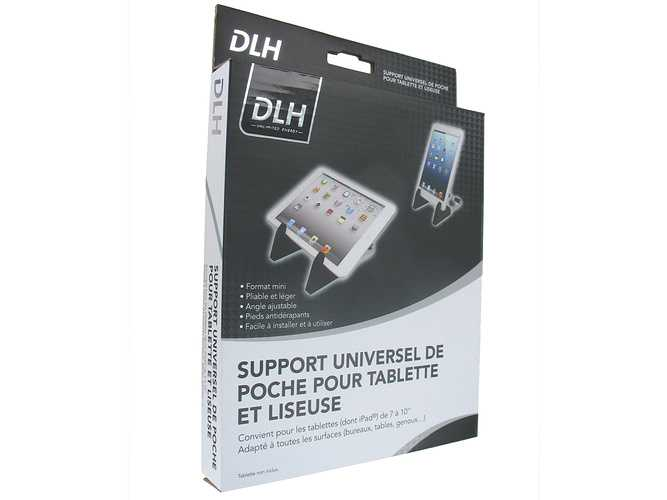 SUPPORT TABLETTE 7 A 10'''' AJUSTABLE POUR BUREAU dy-du2657packaging
