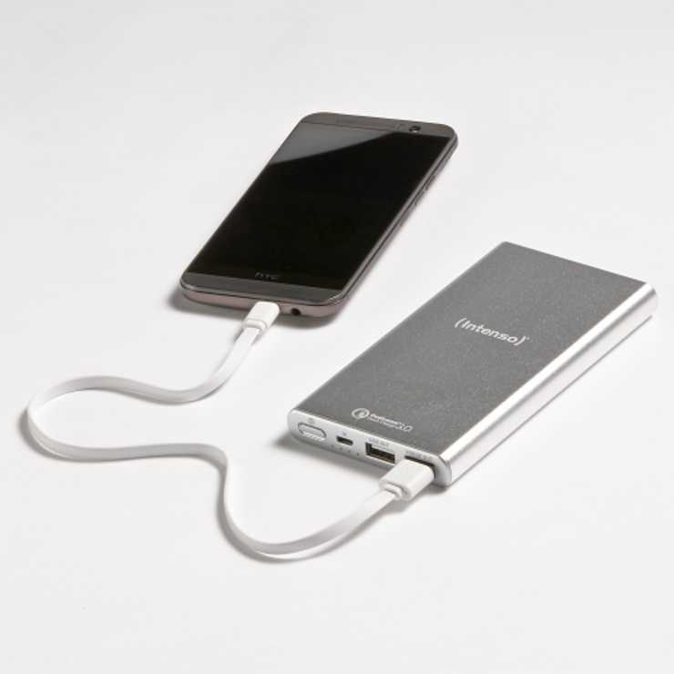 CHARGEUR SERIE QUICKCHARGE 10000MAH 5V 3.1A SILVER 7334531-4