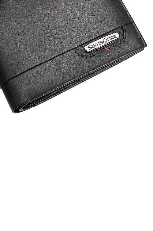PORTEFEUILLE CUIR DLX 4S RFID NOIR 13X9.7X2CM 75420-104103