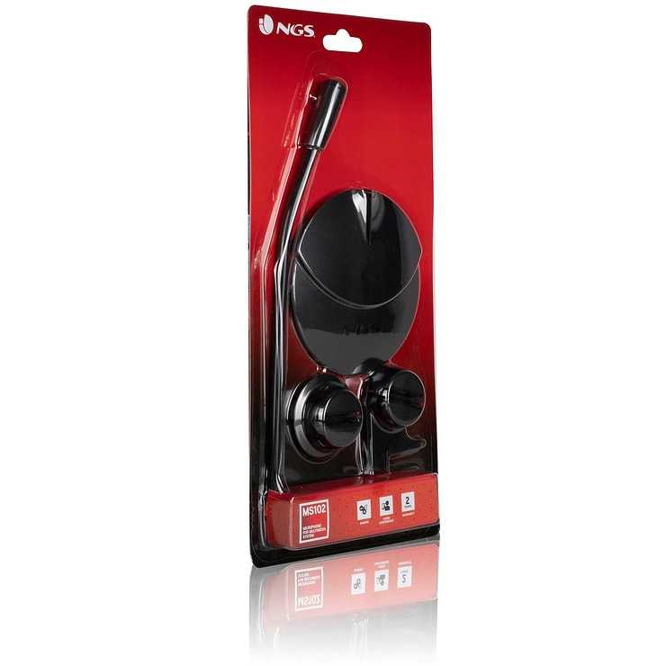 MICRO SUR PIED MS102 NOIR 3.5 MM ngsms102newpack02