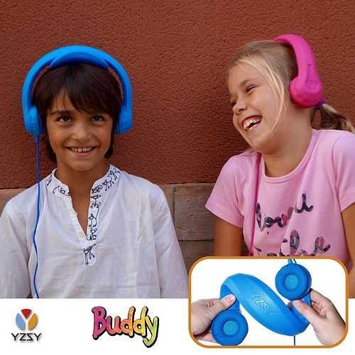 CASQUE AUDIO BUDDY YZSI POUR ENFANT AVEC LIMITE DU VOLUME - BLEU 1079-5