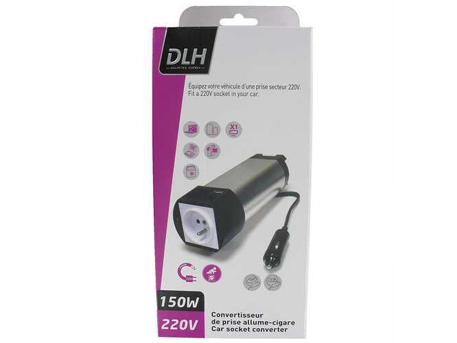 CONVERTISSEUR DE PRISE ALLUME CIGARE 150W USB 2.1A dy-su1562n-packaging