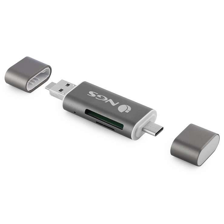 LECTEUR DE CARTE 5 EN 1 TYPE C / USB / MICRO USB / SD ET MICRO SD allyreader-4