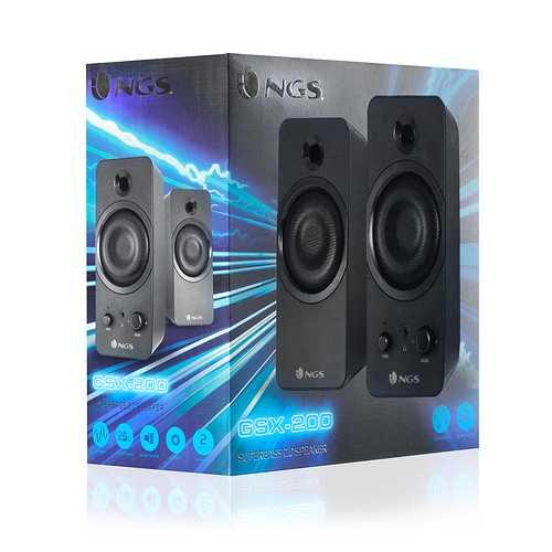 ENCEINTES GSX-200 NOIR SYSTEME 2.0 PUISSANCE 20 WATTS RMS gsx200-3