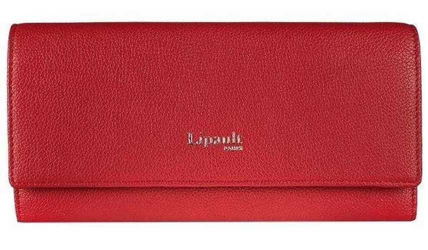 PORTEFEUILLE  PLUME ELEGANCE CUIR ROUGE 78606-348201small