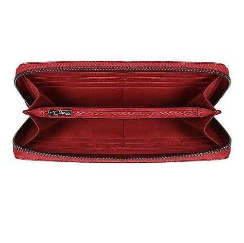 PORTEFEUILLE PLUME VINYLE ROUGE 77821-348202small