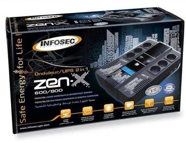 ONDULEUR ZEN-X800 - 800 VA 6 PRISES FR- RJ11/RJ45 ECRAN LCD 66071-41