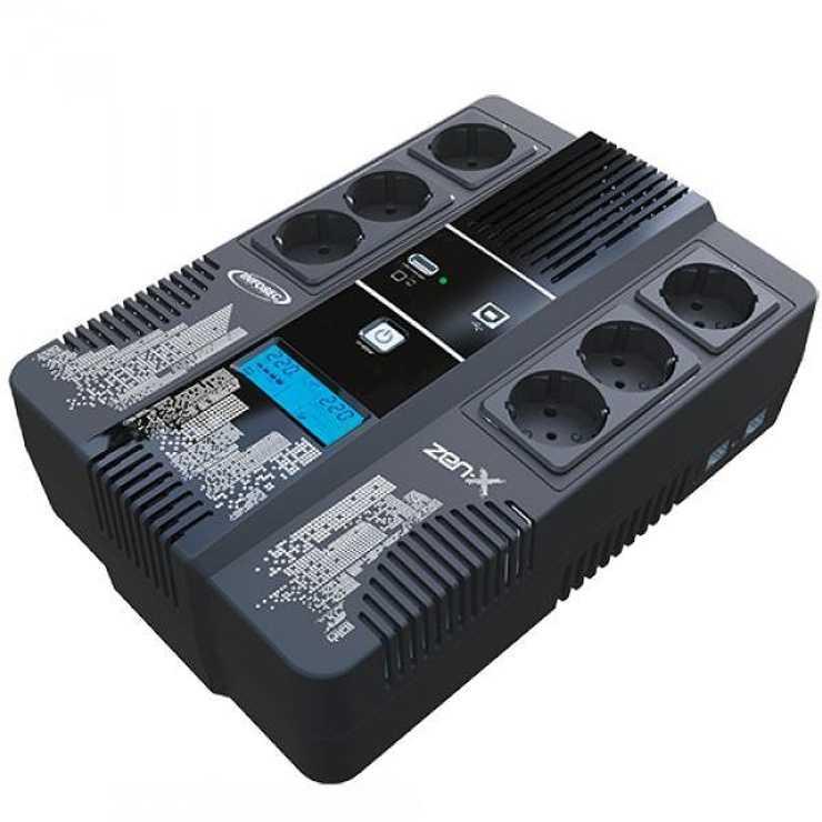 ONDULEUR ZEN-X800 - 800 VA 6 PRISES FR- RJ11/RJ45 ECRAN LCD 0