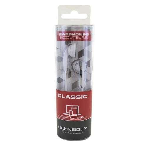 OREILLETTES CLASSIQUE BLANC ARGENT 3004pahd