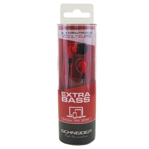 OREILLETTES EXTRA BASS INTRA AURICULAIRE ROUGE 3010pahd