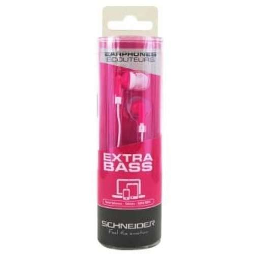 OREILLETTES EXTRA BASS INTRA AURICULAIRE ROSE 3011pahd