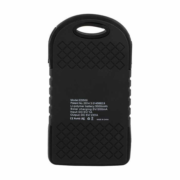 CHARGEUR SOLAIRE SMARTPHONE/TABLETTE 5000MAH NOIR tea139nhd03