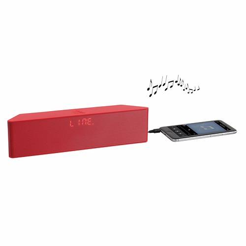 ENCEINTE GOMME ROUGE BLUETOOTH SYSTEME 1.0 PUISSANCE 6 WATTS RMS tes157rhd01
