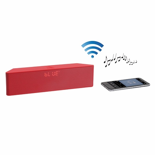 ENCEINTE GOMME ROUGE BLUETOOTH SYSTEME 1.0 PUISSANCE 6 WATTS RMS tes157rhd