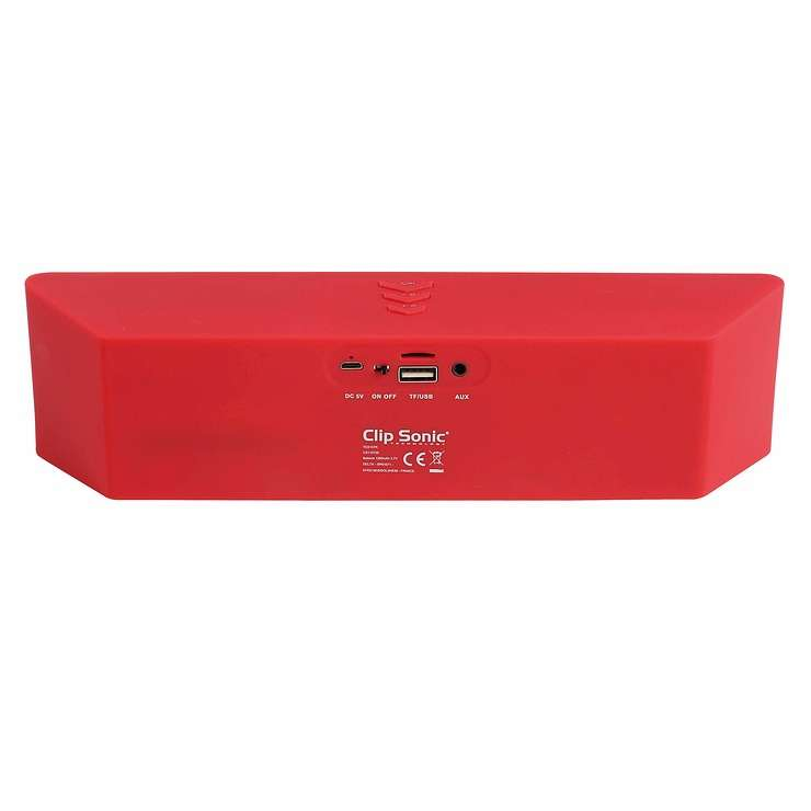ENCEINTE GOMME ROUGE BLUETOOTH SYSTEME 1.0 PUISSANCE 6 WATTS RMS tes157rhd02