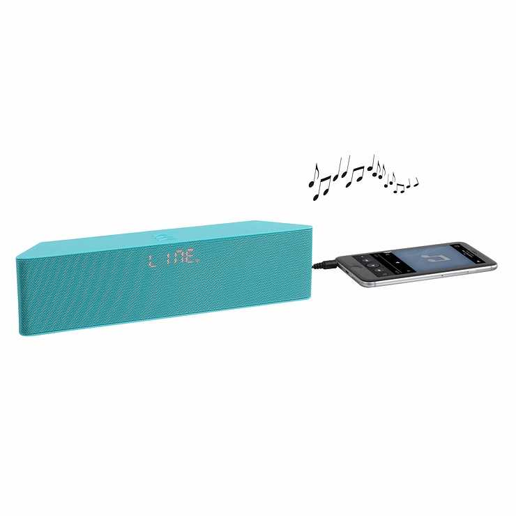 ENCEINTE GOMME VERT BLUETOOTH SYSTEME 1.0 PUISSANCE 6 WATTS RMS tes157vhd01