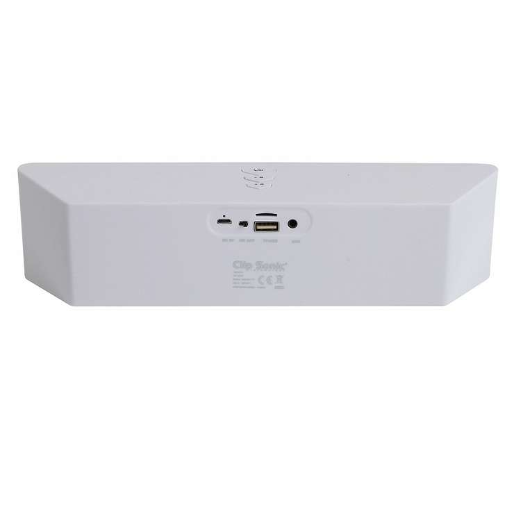 ENCEINTE GOMME BLANC BLUETOOTH SYSTEME 1.0 PUISSANCE 6 WATTS RMS tes157whd02