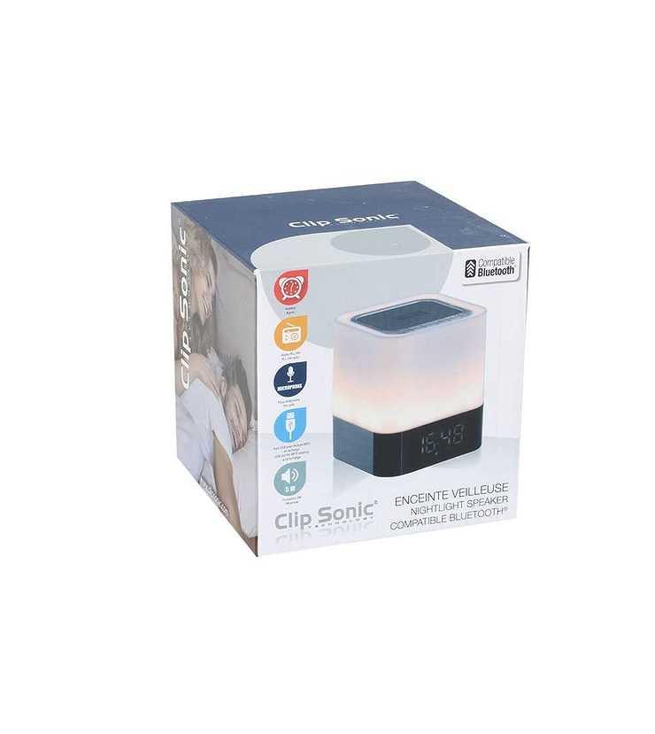 Enceinte Bluetooth radio réveil puissance 5 Watts RMS tes160pack