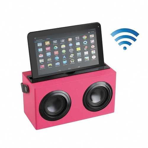 ENCEINTE BOIS ROSE BLUETOOTH SYSTEME 1.0 PUISSANCE 6 WATTS RMS tes169rhd01