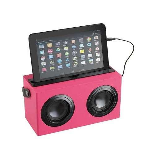 ENCEINTE BOIS ROSE BLUETOOTH SYSTEME 1.0 PUISSANCE 6 WATTS RMS tes169rhd02