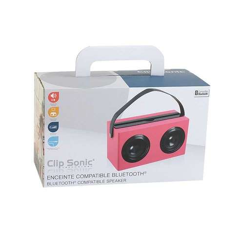 ENCEINTE BOIS ROSE BLUETOOTH SYSTEME 1.0 PUISSANCE 6 WATTS RMS tes169rpack