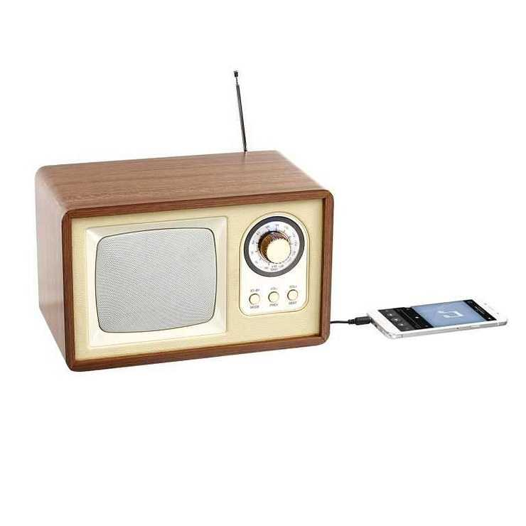 ENCEINTE RADIO RETRO BLUETOOTH PUISSANCE 5 WATTS RMS tes177hd01