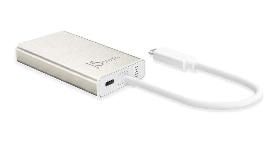 STATION D''ACCUEIL MULTIPORT USB TYPE C VERS HDMI-RJ45-USB3.1 X 2 AUTO ALIMENTE jca374-back