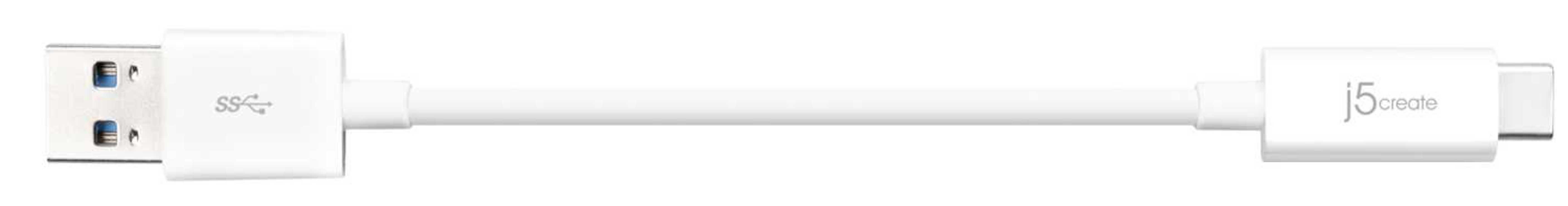 CORDON USB TYPE C - USB 3.1 VERS USB A 90 CM jucx06-3