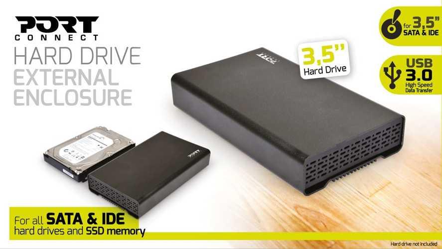 """BOITIER EXTERNE POUR HDD 3.5"""" SATA III ET IDE NOIR USB3.0 9000332"""