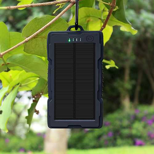 CHARGEUR DE POCHE SOLAIRE ANTICHOC 13000MAH USB + LIGHTNING dy-be2820b6