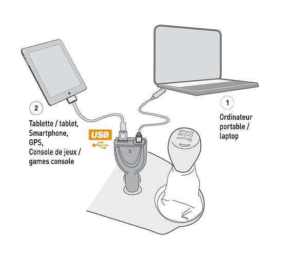 Chargeur de voiture slim 90W USB universel dy-li1590n6