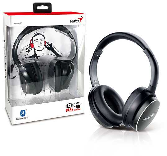 CASQUE AUDIO HS-940BT BLUETOOTH NOIR TOUR DE TETE MICRO  hs-940btbkboxbody