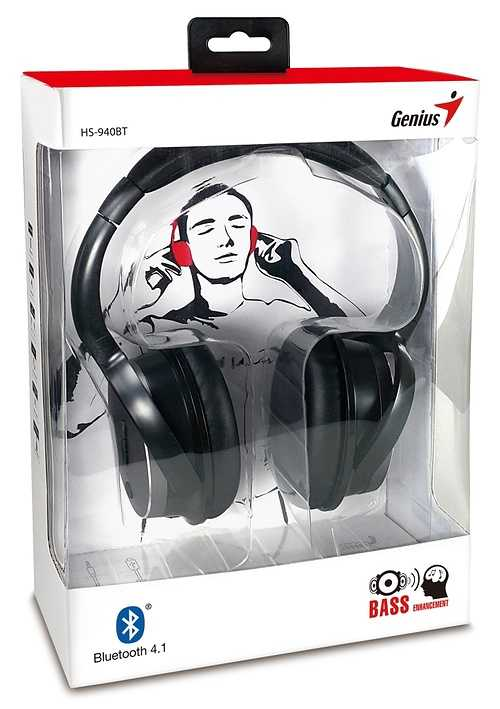 CASQUE AUDIO HS-940BT BLUETOOTH NOIR TOUR DE TETE MICRO  hs-940btbkbox