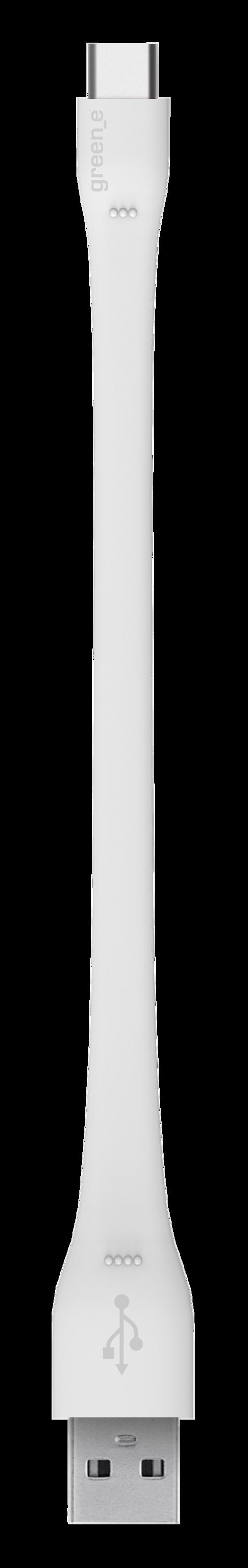 CORDON SYNCHRO + CHARGE USB/USB TYPE C 15CM BLANC gr7040-2