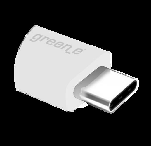 CORDON SYNCHRO + CHARGE USB/USB TYPE C 15CM BLANC gr7040-4