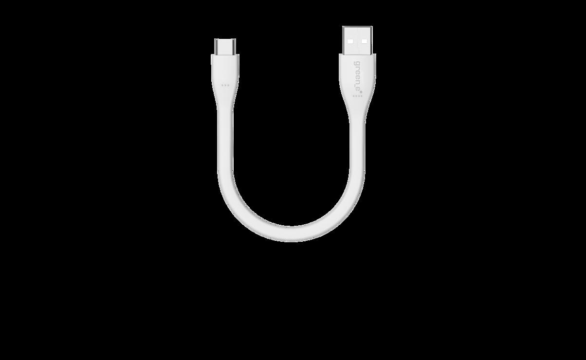 CORDON SYNCHRO + CHARGE USB/USB TYPE C 15CM BLANC gr7040-3