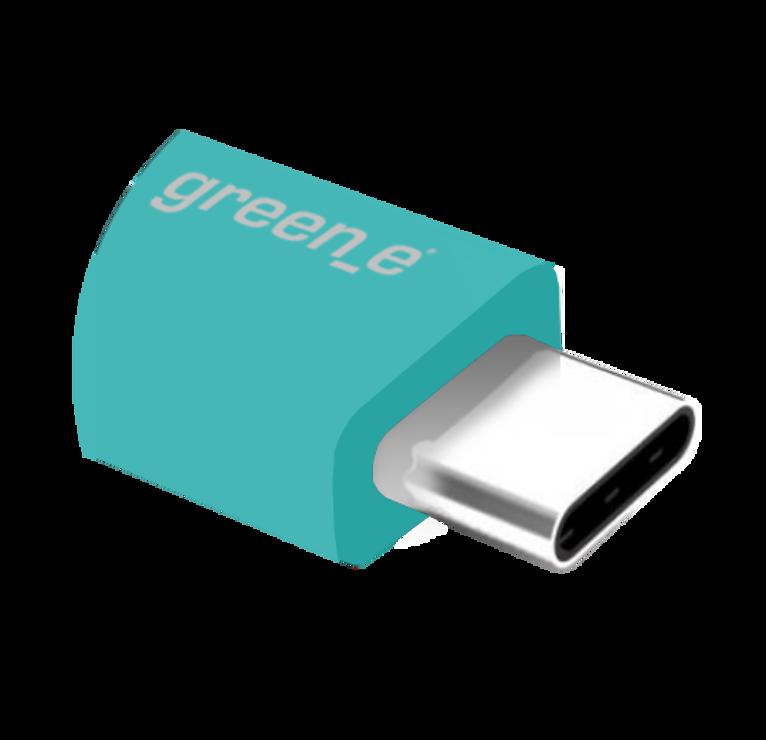 CORDON SYNCHRO + CHARGE USB/USB TYPE C 15CM BLEU gr7041-4