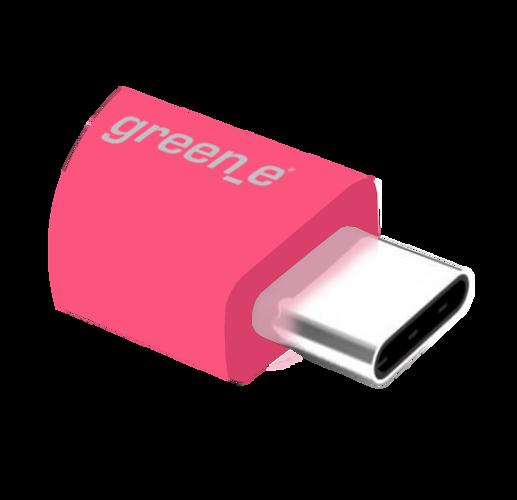 CORDON SYNCHRO + CHARGE USB/USB TYPE C 15CM ROSE gr7042-4