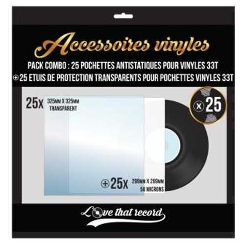 PACK COMBO POCHETTES DE PROTECTION POUR 33 TOURS 0