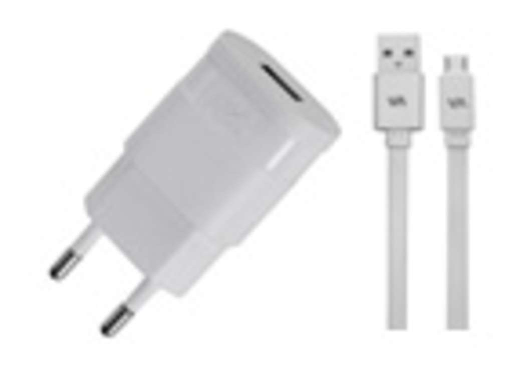 CHARGEUR SECTEUR 1 X USB 1A BLANC + CORDON LIGHTNING MFI 0