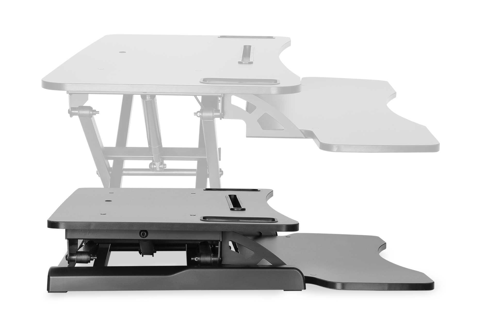 Support metal ergonomique pour bureau hauteur reglable noriak