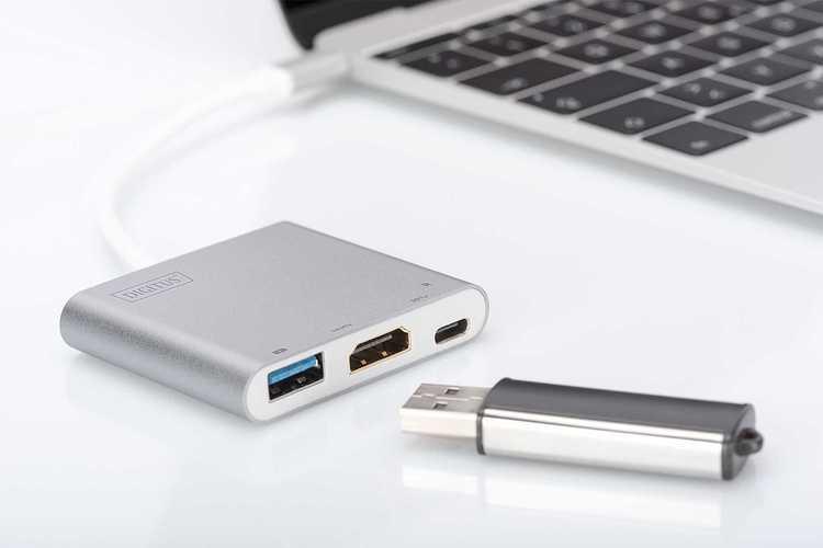 ADAPTATEUR MULTIPORT USB TYPE C + FONCTION CHARGE CORDON 20CM da708382
