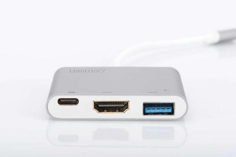 ADAPTATEUR MULTIPORT USB TYPE C + FONCTION CHARGE CORDON 20CM da708383
