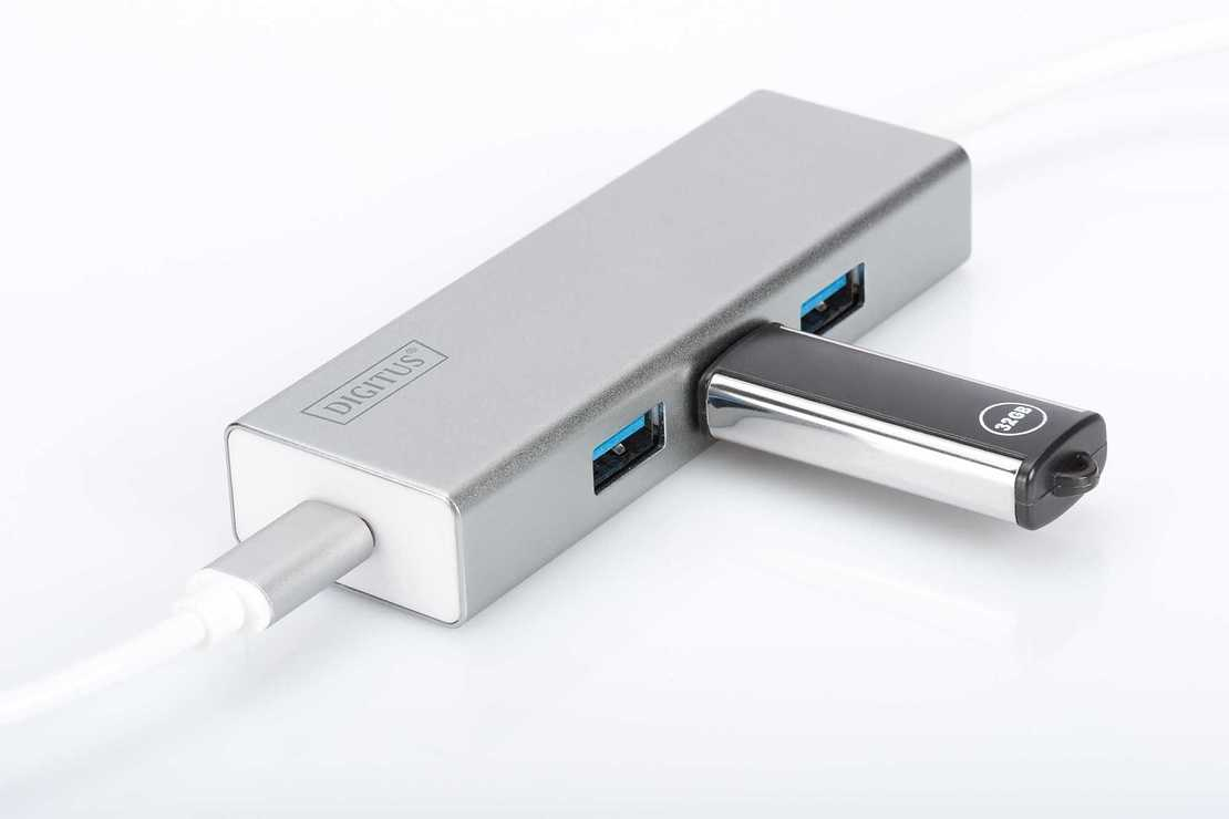HUB 3 PORTS USB 3.0 SORTIE USB TYPE C ALU AUTOALIMENTE da702422