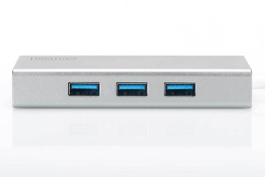 HUB 3 PORTS USB 3.0 SORTIE USB TYPE C ALU AUTOALIMENTE da702424