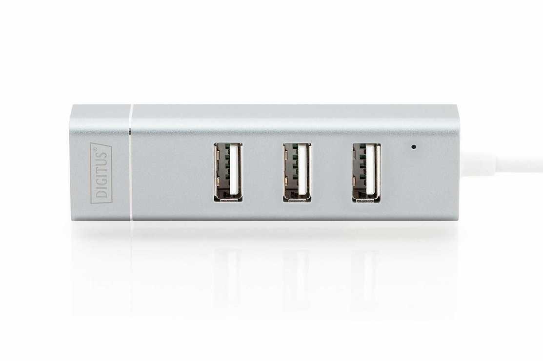 HUB 3 PORTS USB 2.0 SORTIE USB TYPE C + PORT RJ45 da702534